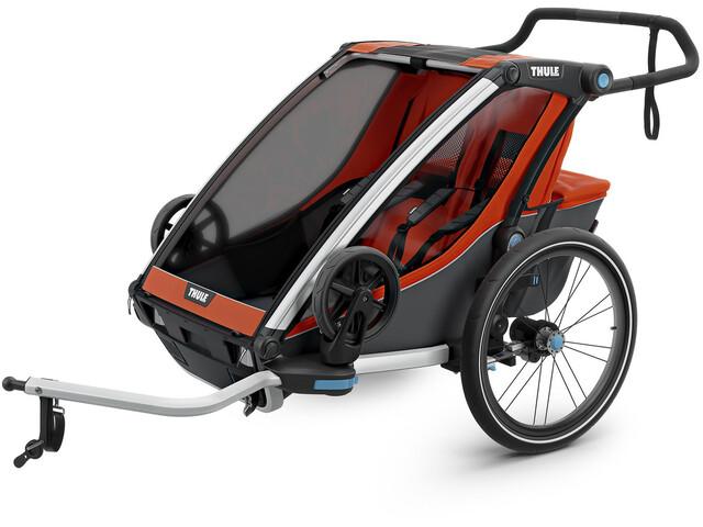 Thule Chariot Cross 2 Rimorchio bici, roarange/dark shadow